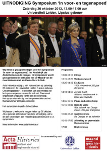 UITNODIGING symposium Acta Historica REMINDER